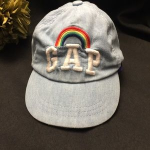 Gap Kids Hat-Rainbow embroidered on Blue
